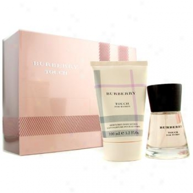 Burberry Touch Coffret: Eau De Parfum Spray 50ml+ Perfumed Body Lotion 100ml ( With Pale Pink Box ) 2pcs