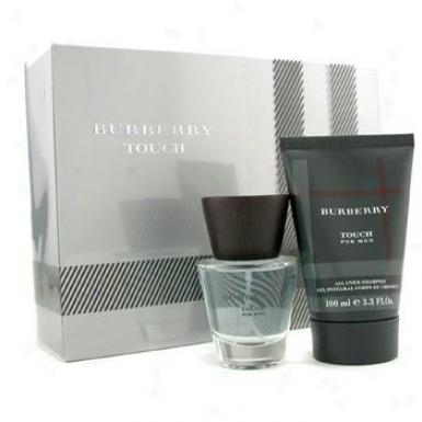 Burberry Touch Coffret: Eau De Toilette Spray 50ml/1.7oz + The whole of Over Shampoo 100ml/3.3oz 2pcs