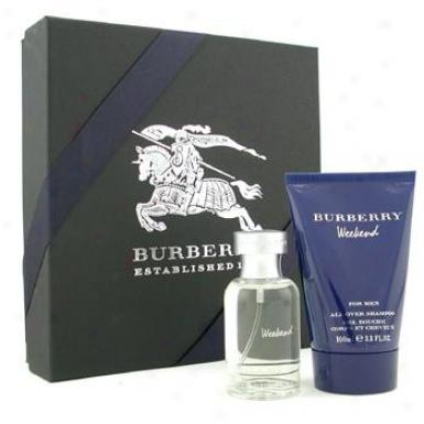 Burberr yWeekend Coffret: Eau De Toilette Spray 50ml/1.7oz + Akl Over Shampoo 100ml/3.3oz 2pcs