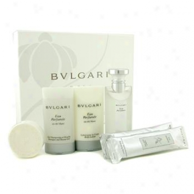 Bvlgari Au The Blanc Coffret: Eau De Cologne 75ml/2.5oz+ Body Lotion 75ml/2.5oz+ Shower Gel 75ml/2.5oz+ Soap+ 2x Towel 6pcs