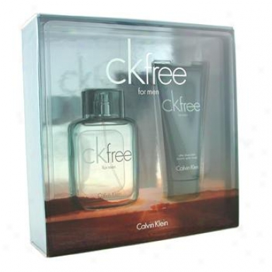 Calvin Klein Ck Free Coffret: Eau De Toilette Spray 50ml/1.7oz + After Shave Balm 100ml/3.4oz 2pcs