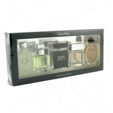 Calvin Klein Ck Men Deluxe Travel Assemblage: Ck One + Eternity + Euphoria + Vassal + Obsession 5pcs