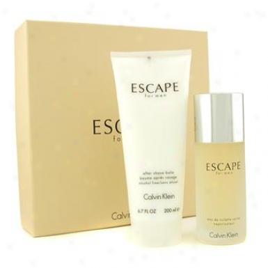 Calvin Klein Escape Coffret: Eau De Toilette Spray 100ml/3.4oz + After Shave Balm 200ml/6.7oz 2pcs