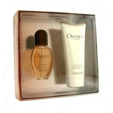 Calvin Klein Obsession Coffret: Eau De Toilette Spray 30ml/1oz + After Shave Balm 100ml/3.4oz 2pcs