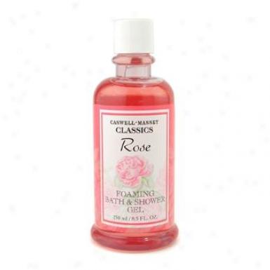 Caswell Massey Rose Foaming Bath & Shower Gel 250ml/8.5oz