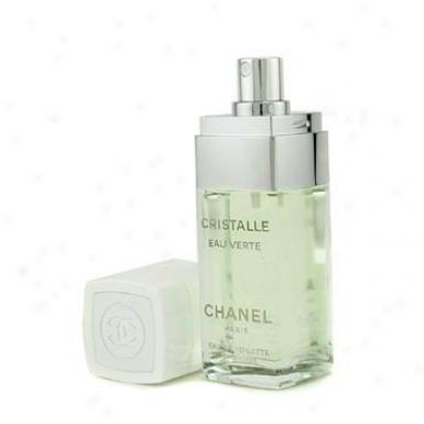 Chanel Cristalle Eau Verte Eau De ToiletteC oncentres Spray 50ml/1.7oz