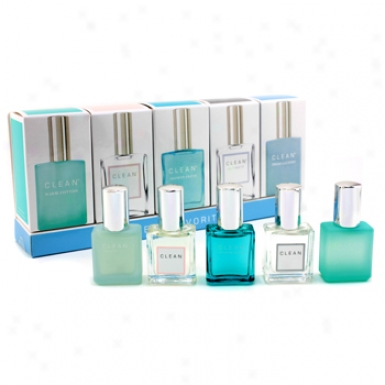 Clean Clean Favourires Coffret: Clean + Shower Fresh + Warm Cotton + Fresh Laundry + Ultimate 5x6ml/0.21oz