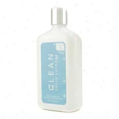 Clean Clean Fresh Laundry Bath & Shower Gel ( Bottle Slightly Crashed ) 547ml/18.5oz