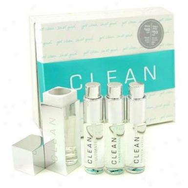 Clean Clean Refillable Purse Spray Coffret: Wzrm Cotton 15ml+ Shower Fresh 15ml+ Ultimate 15ml 3pcs