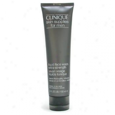 Clunique Skin Supplies For Men: Liquid Face Wash Extra Lustiness 150ml/5oz