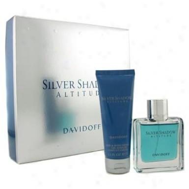 Davidoff Silver Shadow Attitude Coffret: Eau De Toilette Spray 50ml/1.7oz + Hair & Body Shampoo75ml/2.5oz 2pcs