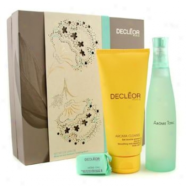 Decleor Tonifying Ritual Coffret: Body Fragrance 100ml/3.3oz + Shower Gel 200ml/6.7oz + Bath Penle 25g/0.88oz 3pcs