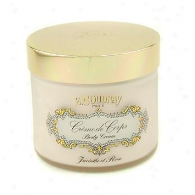E Coudray Jacinth & Rose Perfumed Body Cream 250ml/8.4oz