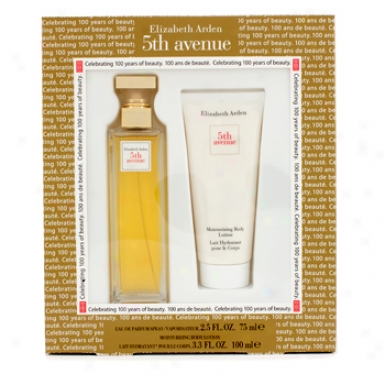 Elizabeth Arden 5th Avenue Coffret: Eau De Parfum Spray 75ml/2.5oz + Moisturixing Boddy Lotion 100ml/3.3oz 2pcs