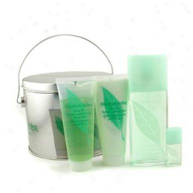 Elizabeth Arden Green Tea Coffret:eau Parfumee Spray 100ml + S/gel 100ml+ B/lotion 100ml + Little 3.7ml 4pcs