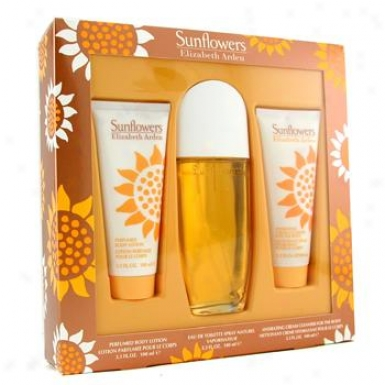 Elizabeth Arden Sunflowers Coffret : Eau De Toilette Spray 100ml/3.3o + Body Lotion 100ml/3.3oz + Body Cream Cleanser 100ml/3.3oz 3pcs