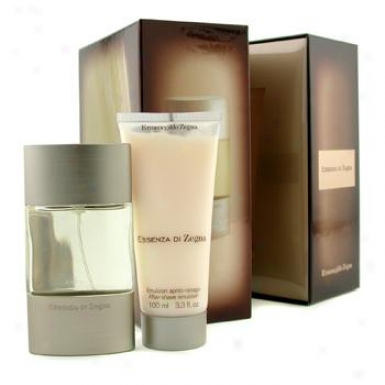 Ermenegildo Zegna Essenza Di Zegna Coffret: Eau De Toilette Spray 50ml/1.7oz + After Shave Ointment 100ml/3.4oz 2pcs
