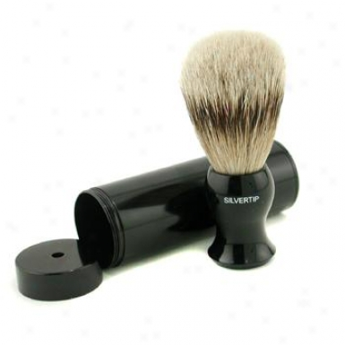 Eshave Travel Brush Silvertip In the opinion of Canister - Black 1pc