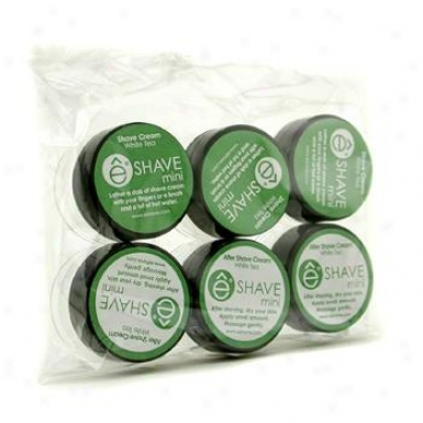 Eshave White Tsa  Mini Travel Set: 3x Shave Cream + 3x After Slice Cream 6x7.5g/0.25oz