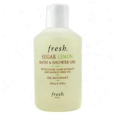 Florid Sugar Lemon Bath & Shower Gel 300ml/10oz