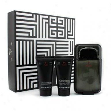 Givenchy Play Intense Coffret: Eau De Toilette Spray 100ml/3.3oz + Shower Gel 50ml/1.7oz + After Shave Gel 50ml/1.7oz 3pcs