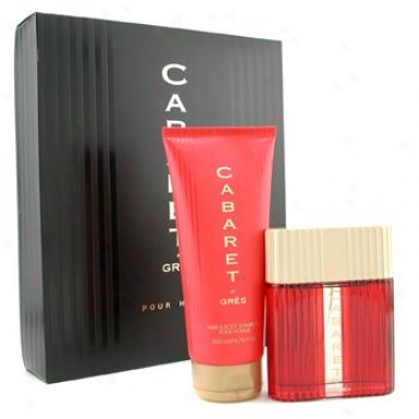G5es Cabaret Coffret: Eau D3 Toilette Spray 100ml + Hair & Body Shampoo 200ml 2pcs
