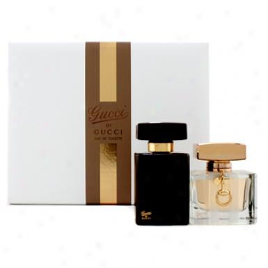 Gucci Gucci By Gucci Coffret: Eau De Toilette Spray 50ml/1.7oz + Perfumed Body Lotion 100ml/3.3oz 2pcs