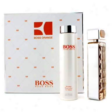 Hugo Boss Booss Orange Femme Coffret: Eau De Toilette Spary 75ml/2.5oz + Body Lotion 200ml/6.7oz 2pcs