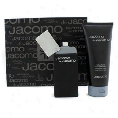 Jacomo Jacomo De Jac0mo Coffret: Eau De Toilette Spray100ml/3.4oz + Perfumed Bath & Shower Gel 200ml/6.7oz 2pcs