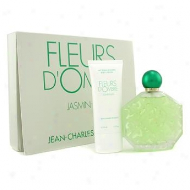 Jean-charles Brosseau Fleurs D'0mbre Jasmin Coffret: Eau De Toilettee Spray 100ml/3.4oz + Body Lotion 50ml/1.7oz 2pcs