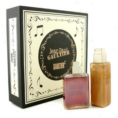 Jean Paul Gaultier Gaultier2 Unisex Coffret: Eau De Parfum Spray 40ml/1.3oz + Body Lotion 1O0ml/3.4oz 2pcs