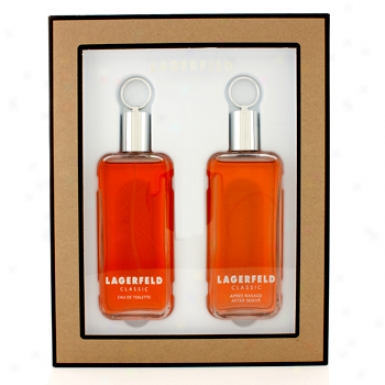 Lagerfeld Classic Coffret: Eau De Toilette Spray 125ml/4 .2oz + After Shave 125ml/4.2oz 2pcs
