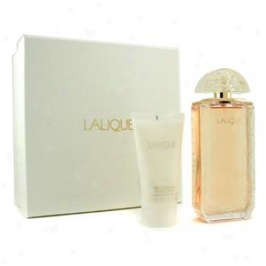Lalique Lalique Coffret: Eau De Parfum Spray 100ml/3.3oz + Body Lotion 50ml/1.7oz 2pcs