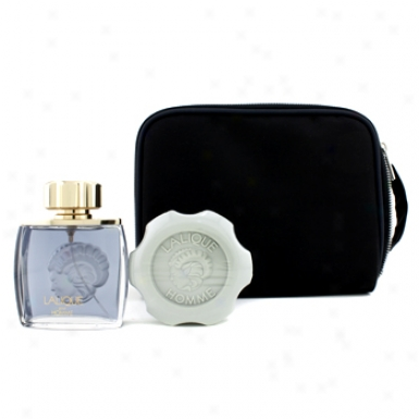 Lalique Lalique Horse Coffret: Eau De Parfum Spray 75ml/2.5oz + Perfumed Soap 150g/5.2oz 2pcs
