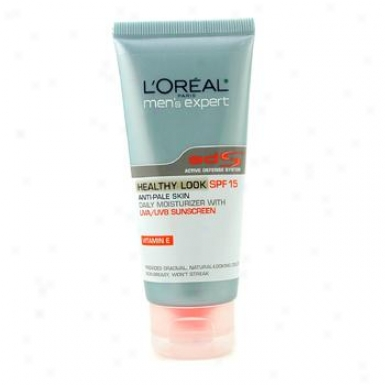 L'oreal Men's Expert Helthy Look Anti-pale Skin Daily Moisturizer Spf15 60ml/2oz
