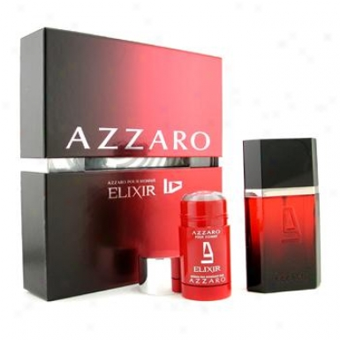 Loris Azzaro Azzaro Elixir Coffret: Eau De Toilette Spray 100ml/3.3oz + Deodorant Stick 75g/2.5oz 2pcs