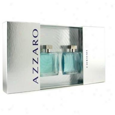 Loris Azzaro Chrome Coffret: Eau De Toilette Spray 100ml/3.4oz + After Shave Lotion 100ml/3.4oz 2pcs