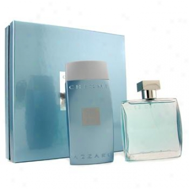 Loris Azzaro Chrome Coffret: Eau De Toilette Spray 100ml + All Besides Shampooing 200ml 2pcs