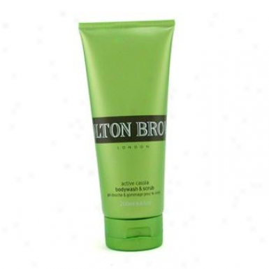 Molton Brown Active Cassia Bodywash & Scrub 200ml/6.6oz
