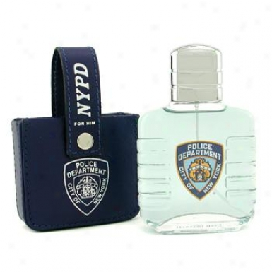 Nypd For Him Eau De Toilette Spray ( With Leather Bag ) 100ml/3.3oz