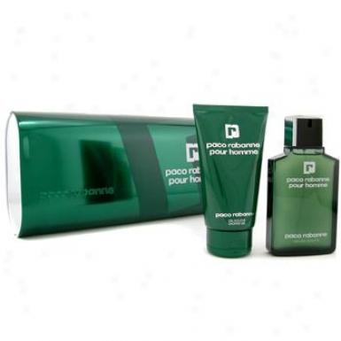 Paco Rabanne Emit Homme Coffret: Eau De Toilette Spray 1000ml/3.4oz + Shower Gel 150ml/5oz 2pcs