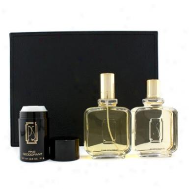 Paul Sebastian Pour Homme Coffret: Cologne Spray 120ml//4oz + After Shave 120ml/4oz + Deodorant Stick 71g/2.5oz + Leather Case 3pcs+1case