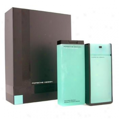 Porsche Design Porsche The Essence Coffeet: Eau De Toilette Spray 80ml/2.7oz +hair & Body Shampoo 200ml/6.8oz 2pcs