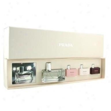 Prada Tdndre Coffret: Eau De Parfum Spray 50ml/1.7oz + 3x Miniature 7ml/0.2oz 4pcs