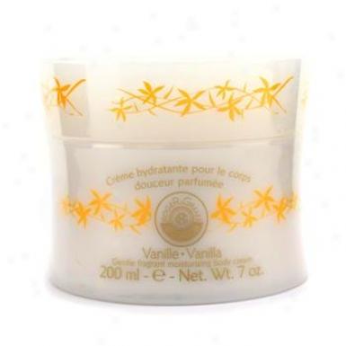 Roger & Gallet Vanille ( Vanilla ) Gentle Fragrant Moisturizing Body Cream ( Plastic Jar ) 200ml/7oz