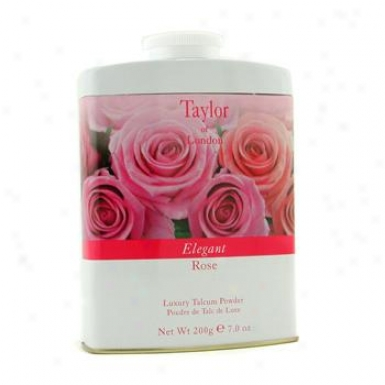 Taylor Of London Elegant Rose Luxury Talcum Powder 200g/7oz