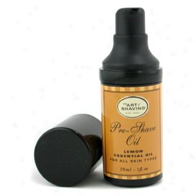 The Art Of Shaving Pre Shave Oil - Lemon Essential Oil ( Travel Size  Pump  For All Skin Types ) 30ml/1oz
