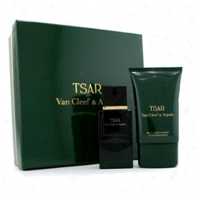 Van Cleef & Arpels Tsar Cofrfet: Eau De Toilette Spray 50ml/1.7oz + After Shave Balm 100ml/3.3oz 2pcs