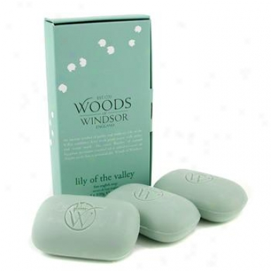 Wood Of Windsor Lily Of The Valley Fine English Soap 3x100g/3.5oz