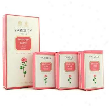 Yardley English Rose Soap 3x100g/3.5oz